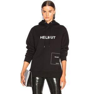 Helmut Lang Oversized Logo Index Hoodie
